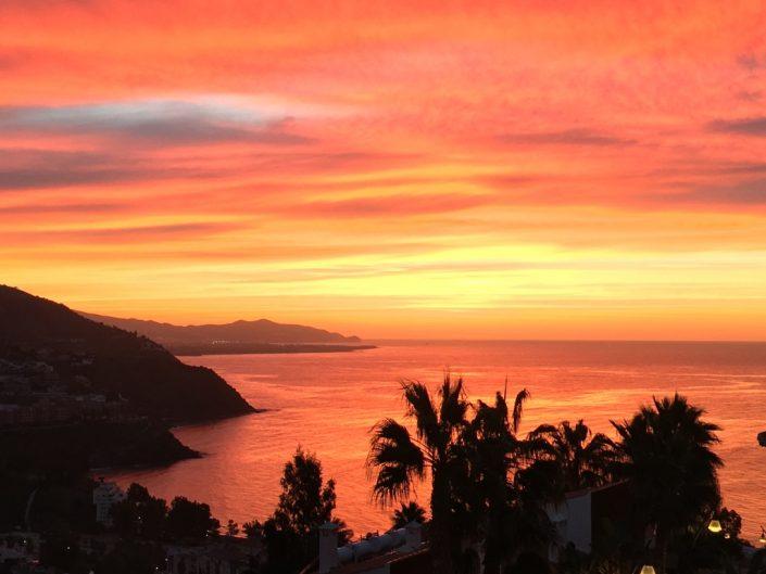 Ochtend zon uitzicht Casa Palmeras